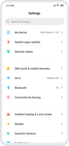 MIUI 11 Based Android 10 Firmware Update 05