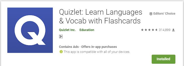 تطبيق Quizlet