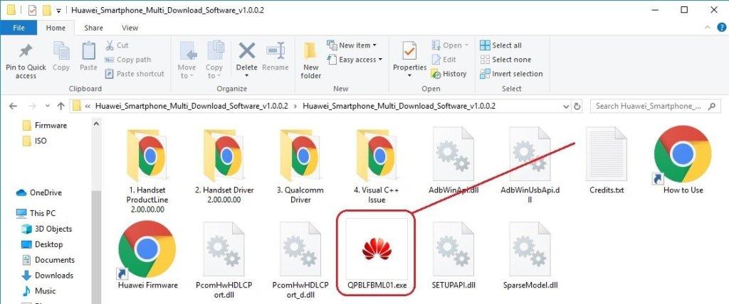 Using Huawei Multi Download Tool 01