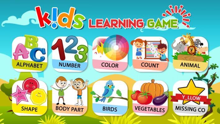 تطبيق Preschool Learning - Kids ABC, Number, Color & Day أحد ألعاب تعليمية للأطفال