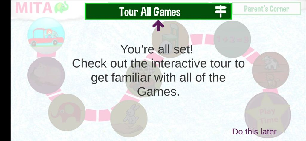 اضغط على Tour All Games