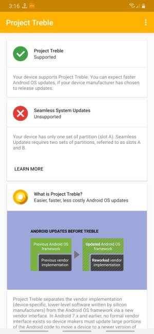 دعم Project Treble لأجهزة اندرويد