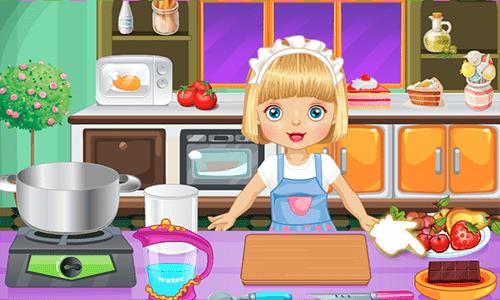 بنات طبخ لعبة تحضير كعكة 1