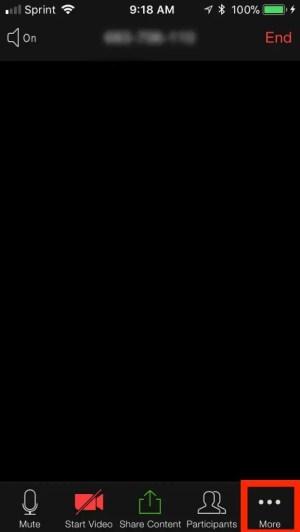 تسجيل اجتماعات زووم كلاود على الايفون