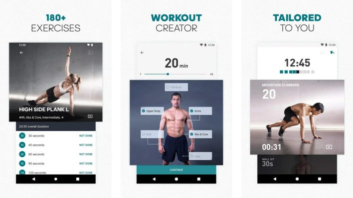 تطبيق Runtastic workout apps