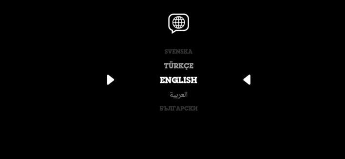اختيار اللغة في تطبيق كرتون نتورك