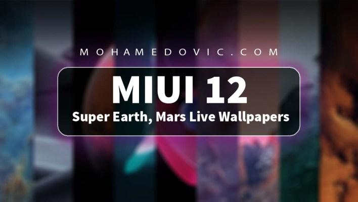 خلفيات MIUI 12 المتحركة