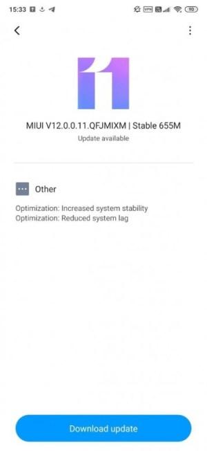 تحديث MIUI 12 لهاتف ريدمي K20 مي 9T