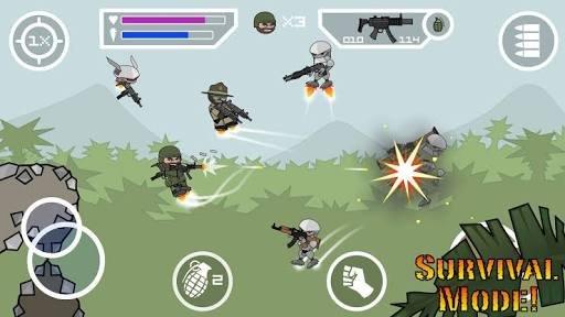 التعريف بلعبة mini militia doodle army 2
