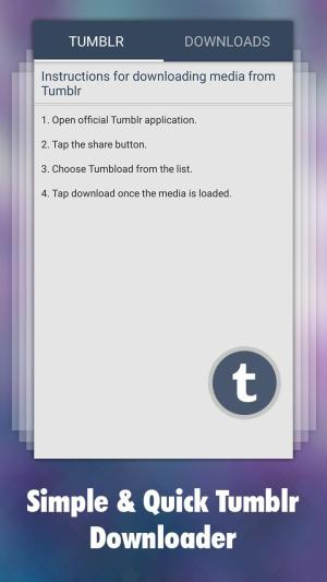 تطبيق Downloader for Tumblr