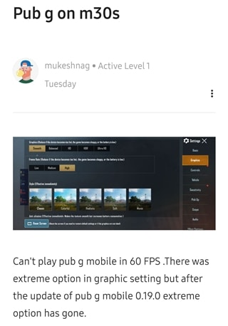 PUBG Mobile frame rate issue 3