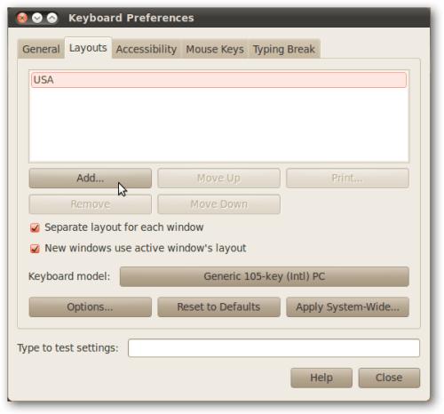 إضافة لغة افتراضية في اللينكس