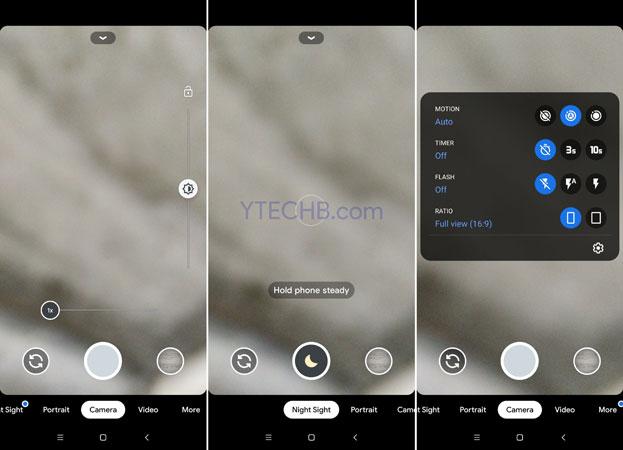 صور من داخل تطبيق جوجل كاميرا 7.3 المعدل
