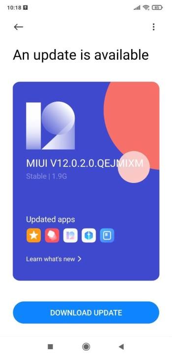 Poco F1 MIUI 12 update re released 2