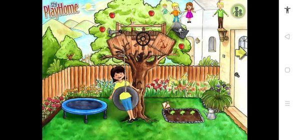 حديقة المنزل عند تحميل لعبة ماي بلاي هوم