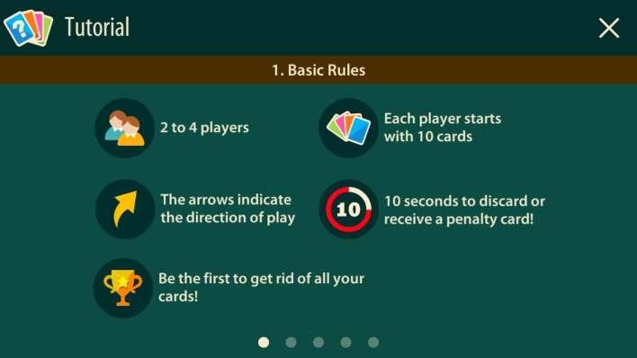 القواعد الأساسية في لعبة crazy 8 multiplayer