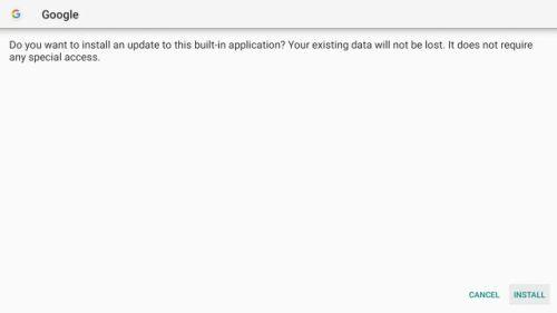 تثبيت Google App في اندرويد تي في