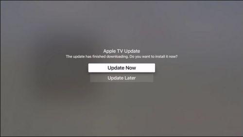 تحديث جهاز Apple TV