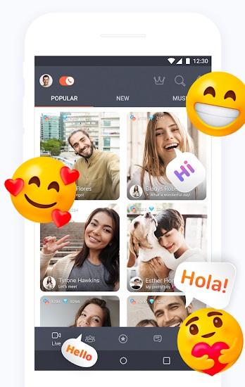 كون الصدقات على تطبيق tango app