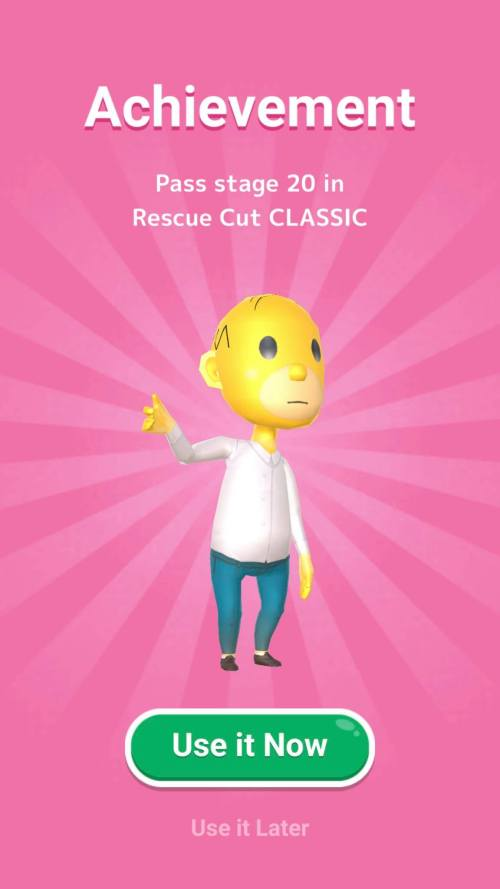 فتح شخصيات جديدة بتحقيق إنجازات جديدة في لعبة Rescue Cut