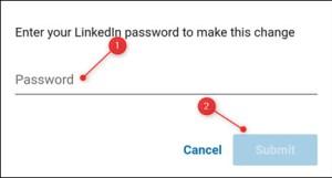 إدخال كلمة السر الخاصة بحسابك ثم النقر على Submit