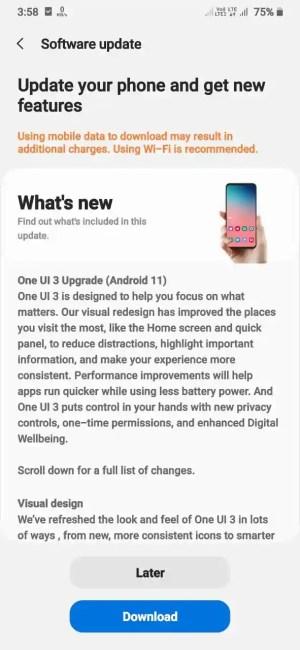 سامسونج M30s تحديث One UI 3
