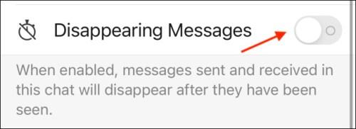 تفعيل خاصية Disappearing Messages في تطبيق سيجنال للايفون
