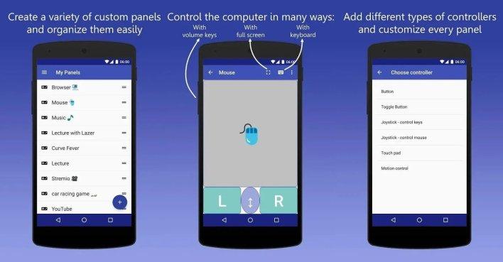 تطبيق InfiniMote أفضل تطبيقات التحكم في الويندوز