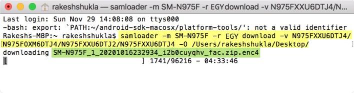 Install Samloader on macOS Mohamedovic 06