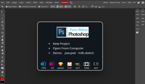 أداة Free Online Photoshop