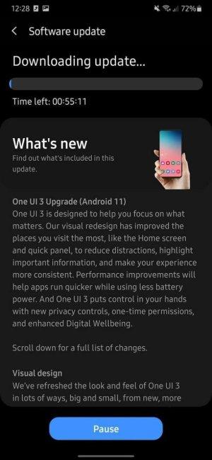 تحميل اندرويد 11 الرسمي لهاتف Galaxy A50