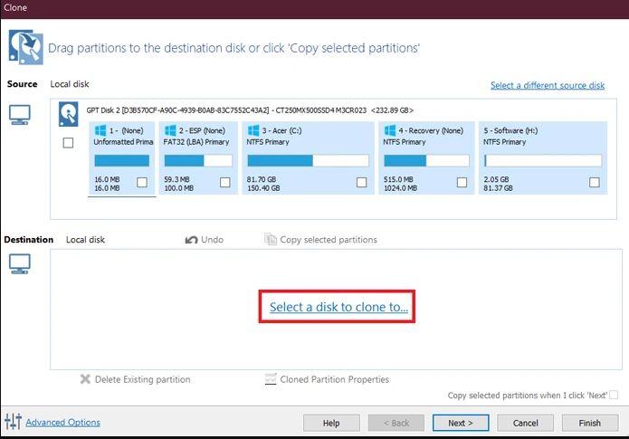 خطوات استنساخ الويندوز 10 إلى SSD جديد