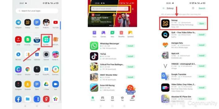 تطبيق Soloop لتعديل الفيديو على هواتف اوبو، ريلمي