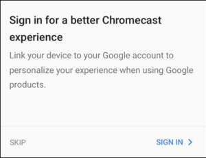 تسجيل حسابك الخاص بجوجل واتصاله بجهاز كروم كاست