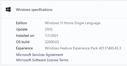 تحديث ويندوز 11 إصدار 22000.65