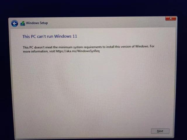 إصلاح مشكلة this pc can't run windows 11