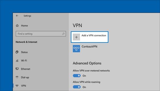 تفعيل VPN على ويندوز بدون برامج