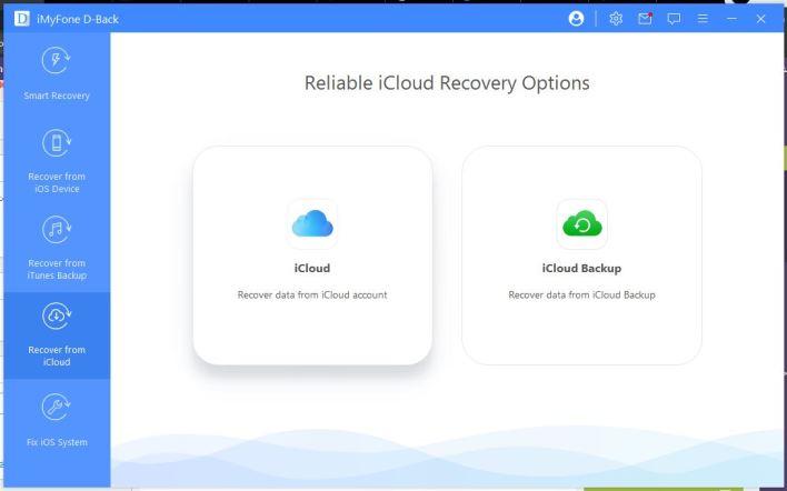 استعادة البيانات من نسخة iCloud الاحتياطية