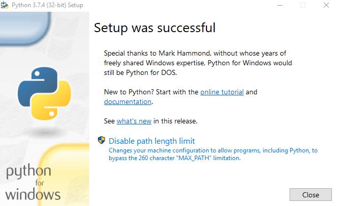 تثبيت Python على جهازك الحاسوب