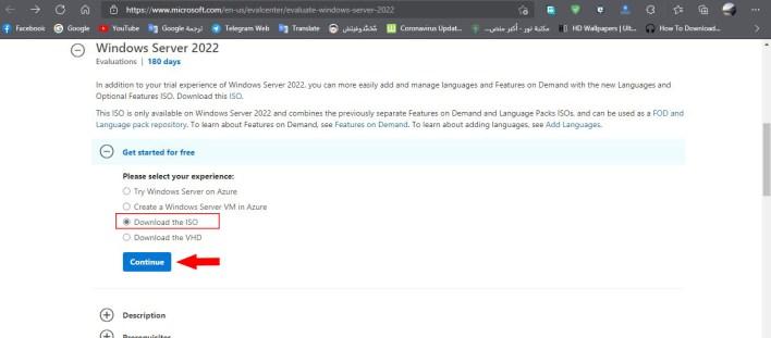 تحميل وتثبيت Windows Server 2022 ISO