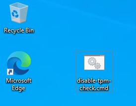 Run disable tpm check