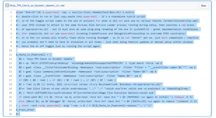 Skip TPM Check on Dynamic Update v2