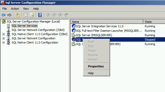 SQL Server Browser SQL Configuration Manager Nothing