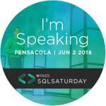 SQL Saturday Pensacola 2018