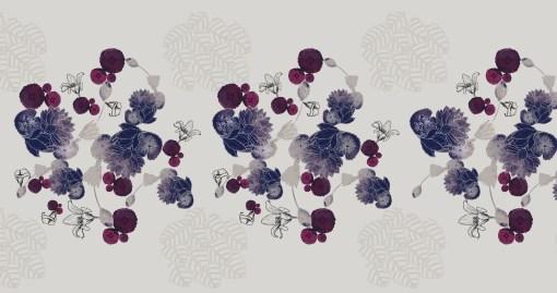 motif pattern studio de design violet purple fleurs flower dessin création designer