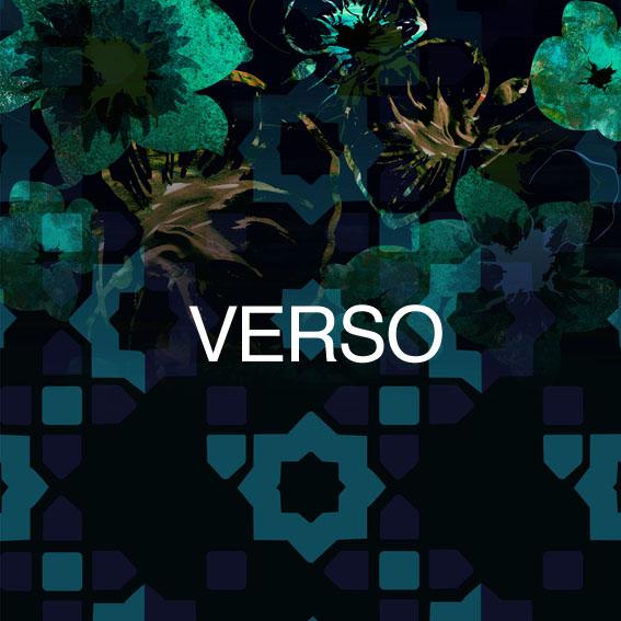 verso motif pattern motif design graphique arabesque ton sur ton fleur floral vert design unique et made in france mohanita créations