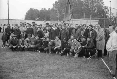 le 25 mai 1972, finale des interclubs, Obourg-Sport champions montée en D1 national