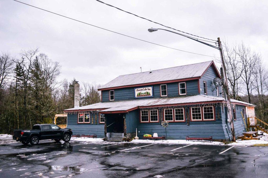 Pleasant Lake Inn on NYS 29A during snowmobile season.