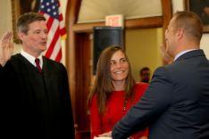 Judge Joseph M. Sise, Melissa Ossenfort, Matthew Ossenfort