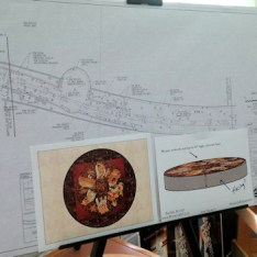 Plans for the Wheel Of Life mosaic